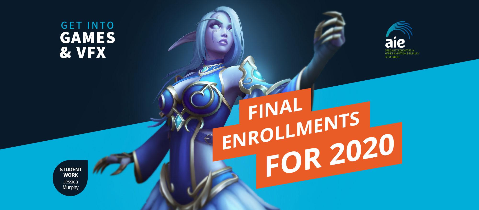 Final Enrolments 2020 Header Image | AIE